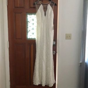 Ivory laced gown